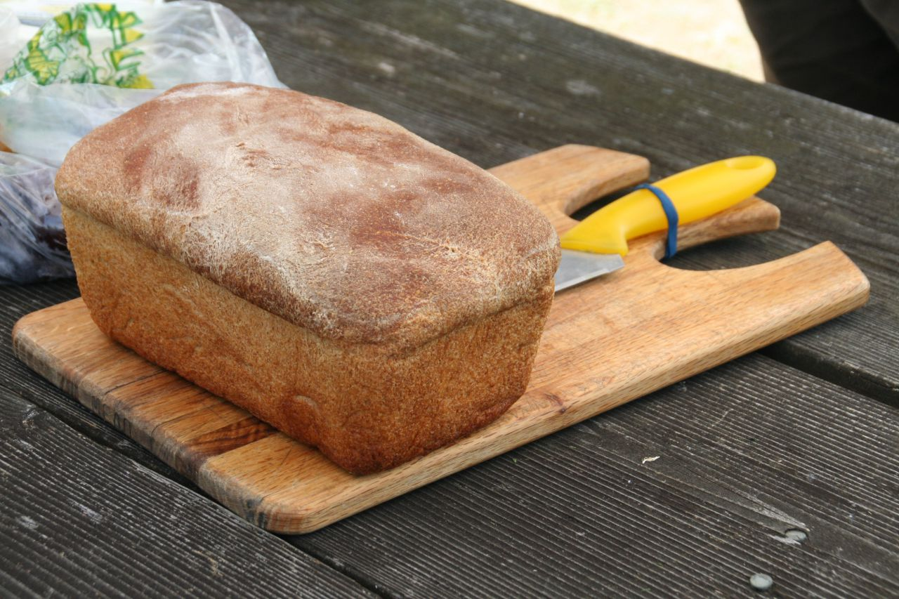 Fresh-baked bread for lunch!