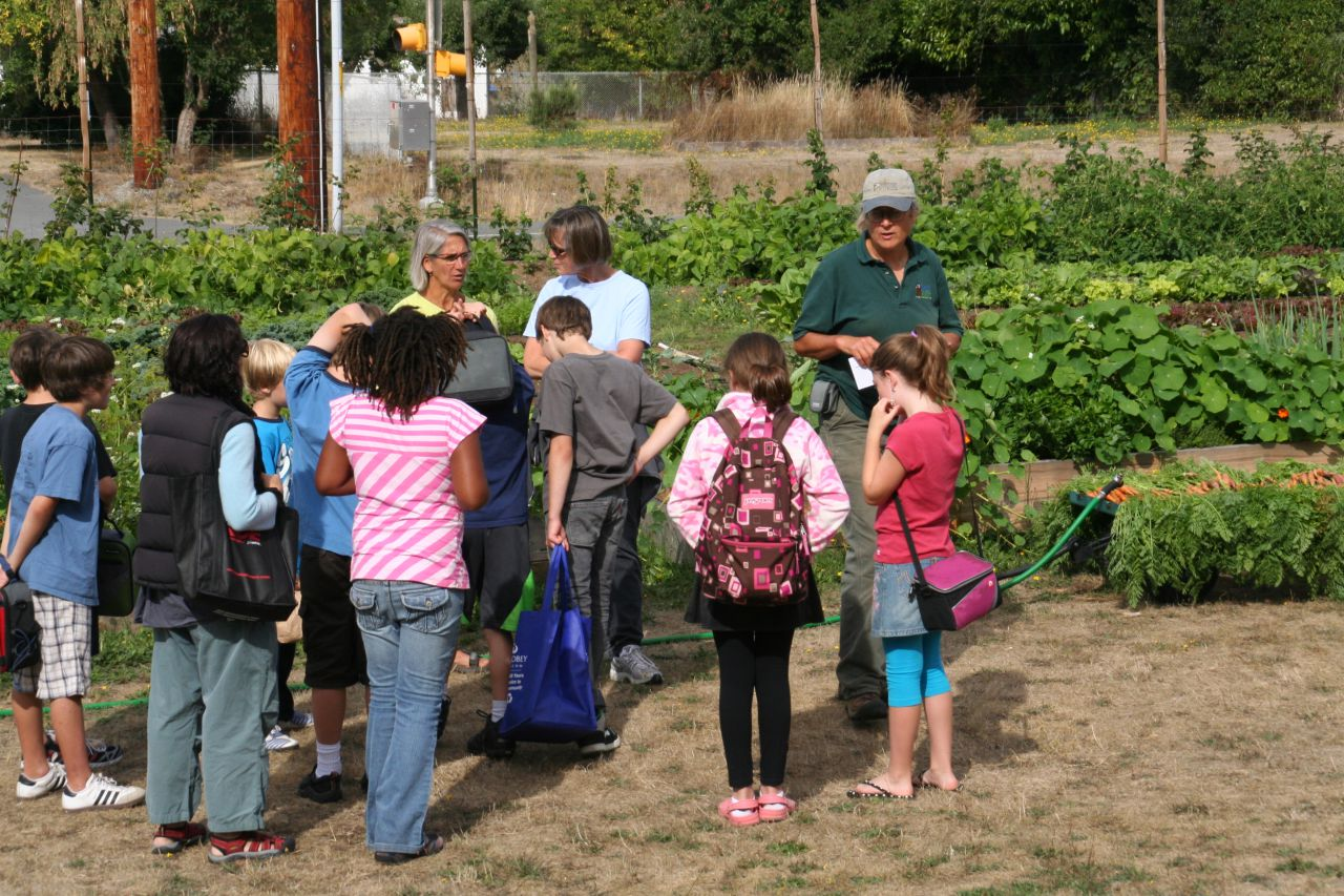 Children getting instructions