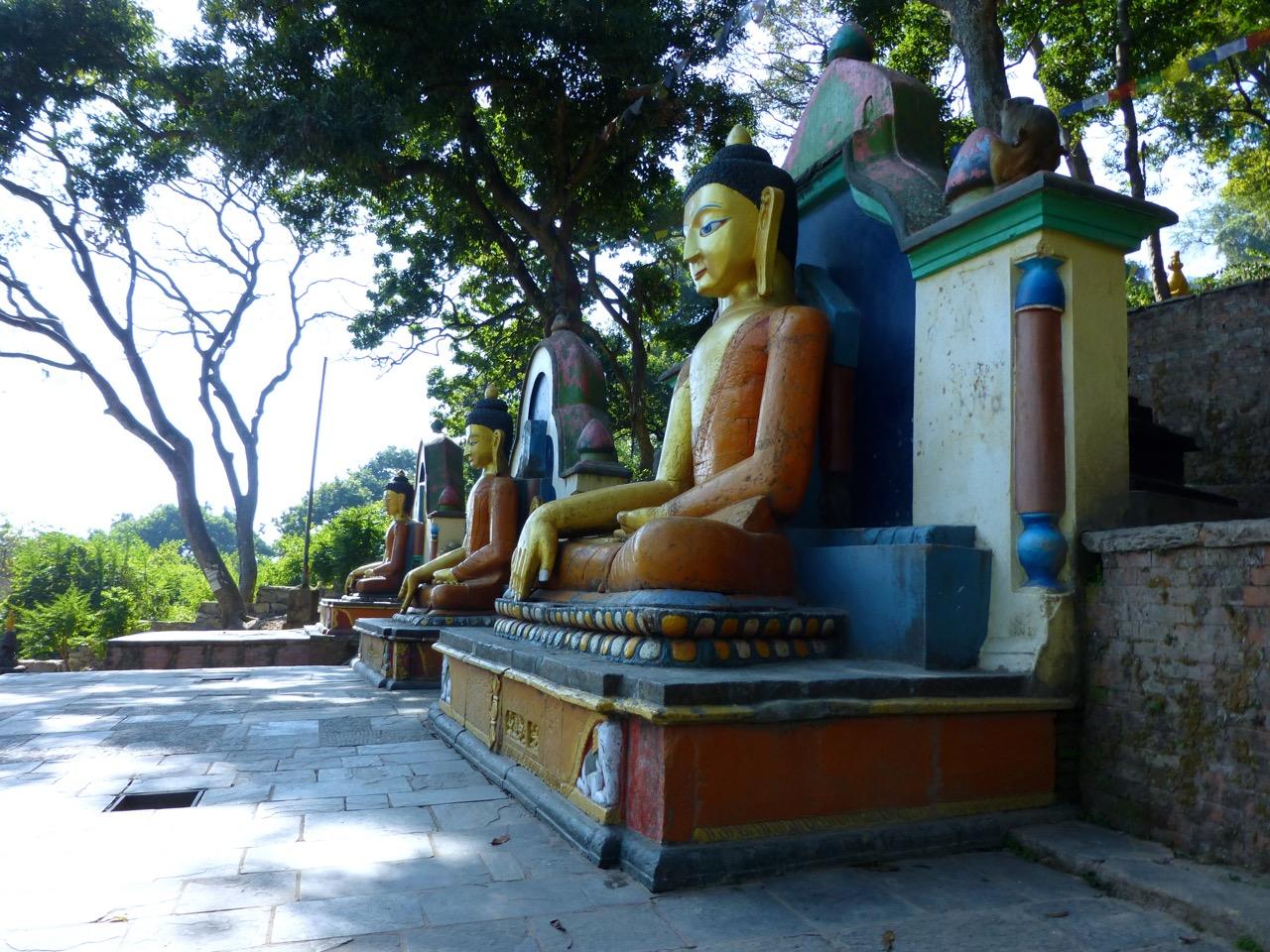 Three giant Buddhas