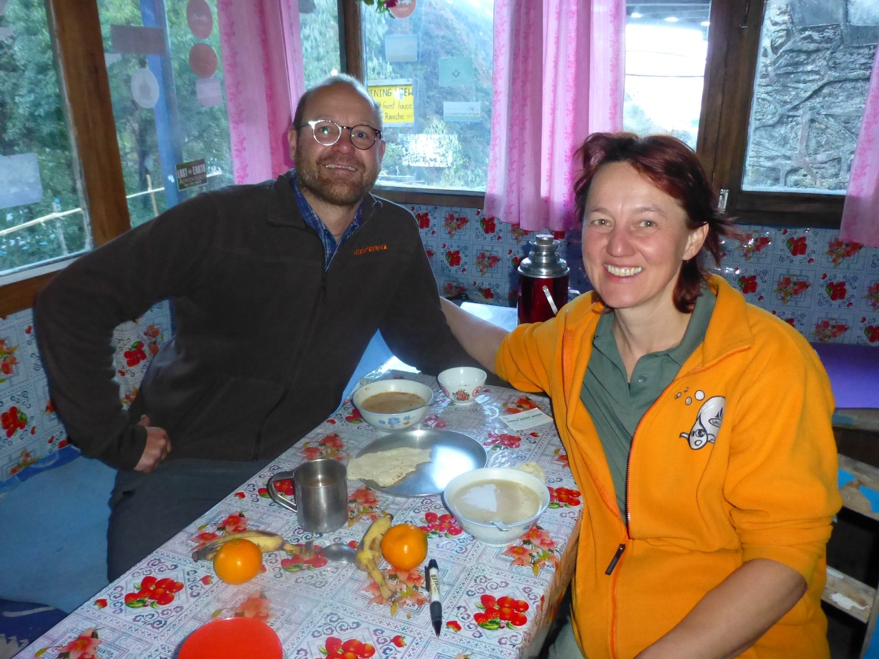 Erwin and Christine, German friends we met our first and last night in Langtang.